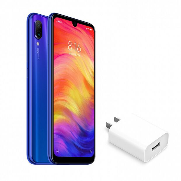 Смартфон Xiaomi Redmi Note 7 32GB/3GB + 18W адаптер (Blue/Синий)